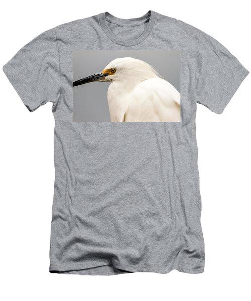 Snowy Egret Profile Men's T-Shirt (Athletic Fit)