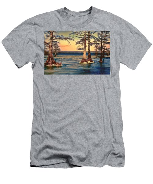 Snowy Reelfoot Men's T-Shirt (Athletic Fit)
