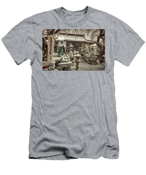 Snowy Temple Men's T-Shirt (Athletic Fit)