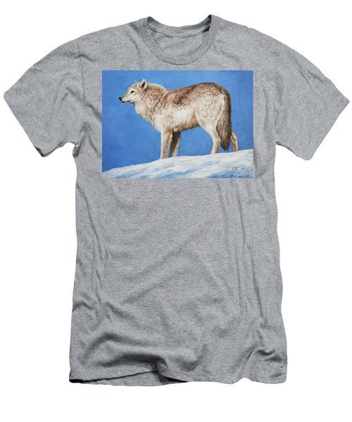 Snowy Wolf Men's T-Shirt (Athletic Fit)