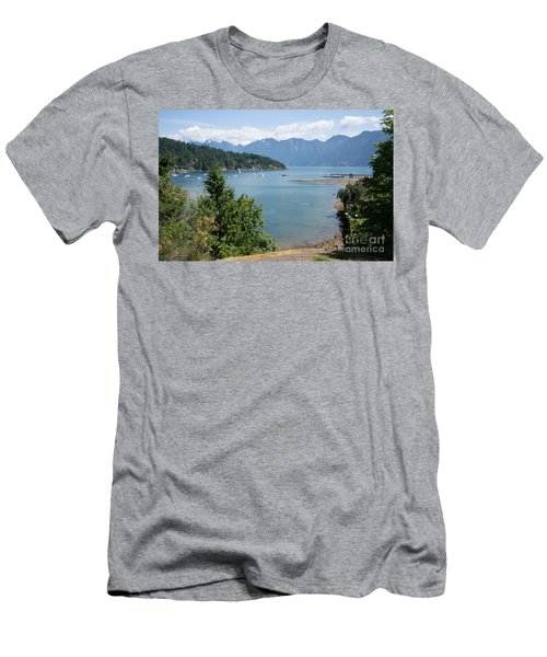 Snug Cove  Men's T-Shirt (Slim Fit) by Carol Ailles