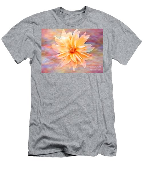 Men's T-Shirt (Slim Fit) featuring the photograph Soft Delightful Dahlia by Judy Palkimas