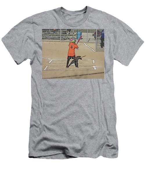 Softball Star Men's T-Shirt (Slim Fit) by Michael Porchik