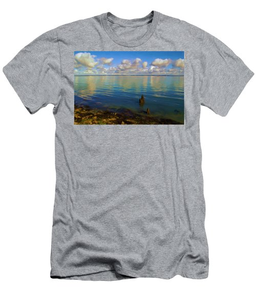 Men's T-Shirt (Slim Fit) featuring the digital art Solent by Ron Harpham
