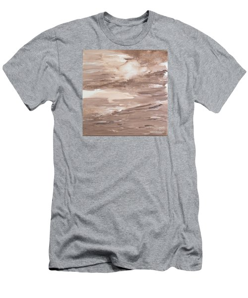 Men's T-Shirt (Slim Fit) featuring the painting Solitude by Susan  Dimitrakopoulos