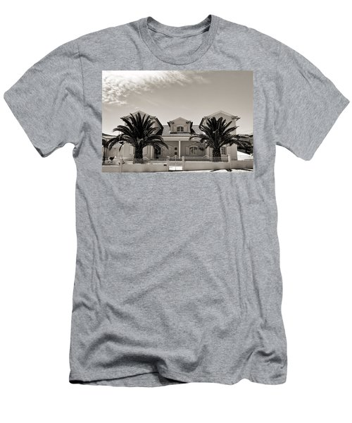 Spanish Village With Palm Trees Men's T-Shirt (Athletic Fit)