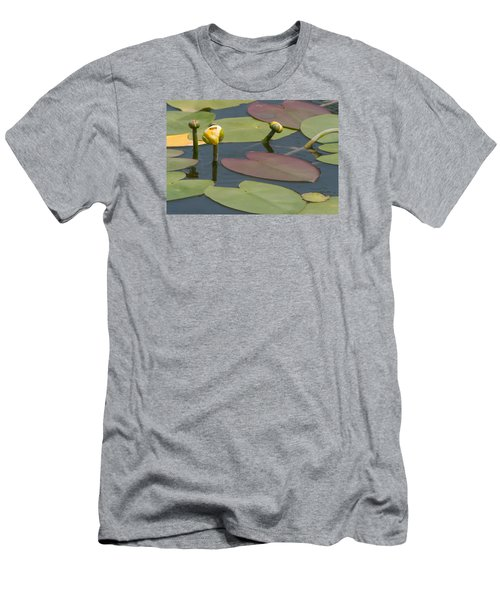 Men's T-Shirt (Slim Fit) featuring the photograph Spatterdock Heart by Paul Rebmann