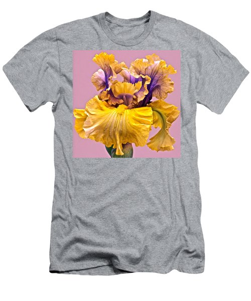 Men's T-Shirt (Athletic Fit) featuring the photograph Spectacular Iris Close Up by Byron Varvarigos