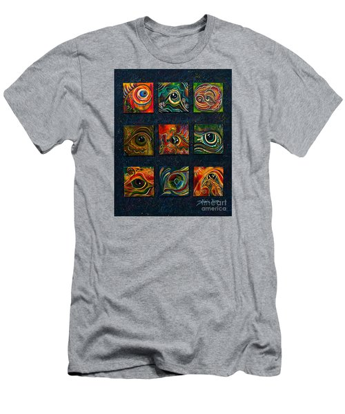Men's T-Shirt (Slim Fit) featuring the painting Spirit Eye Collection I by Deborha Kerr