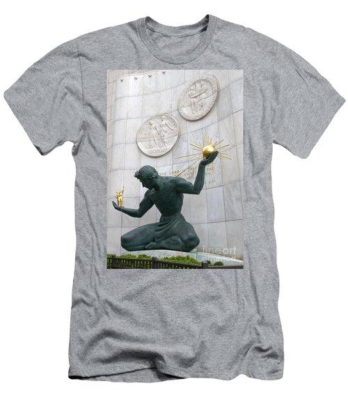 Spirit Of Detroit Monument Men's T-Shirt (Athletic Fit)