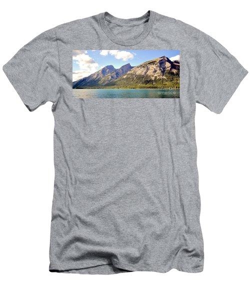Spray Lake Mountains Men's T-Shirt (Athletic Fit)