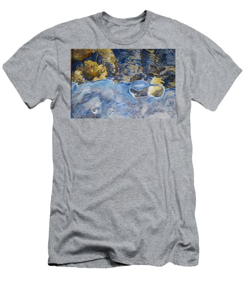Men's T-Shirt (Slim Fit) featuring the photograph Spring Drawing A Line In The Ice  by Brian Boyle