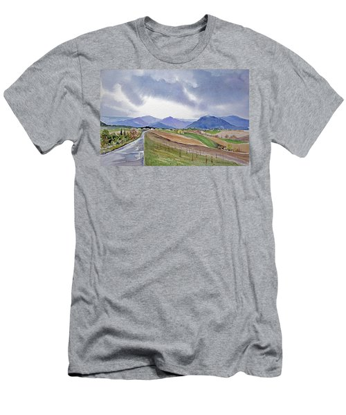 Spring Rain In Tuscany Men's T-Shirt (Slim Fit) by Joan Hartenstein