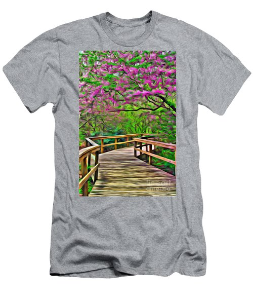 Spring Walk - Paint Rendering Men's T-Shirt (Athletic Fit)