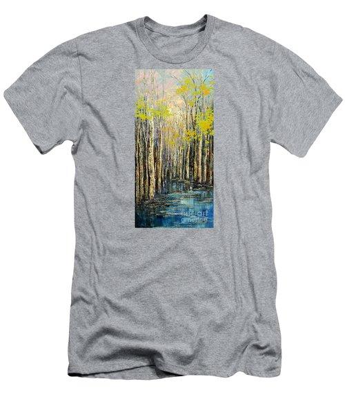 Spring Wind Men's T-Shirt (Slim Fit) by Tatiana Iliina