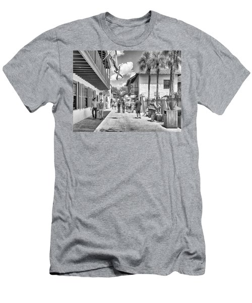 Men's T-Shirt (Athletic Fit) featuring the photograph St. Geroge Street by Howard Salmon