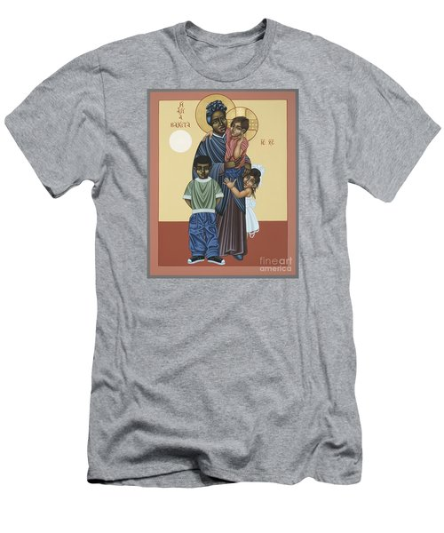 St. Josephine Bakhita Universal Sister 095 Men's T-Shirt (Slim Fit) by William Hart McNichols