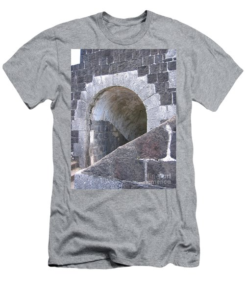 St. Kitts  - Brimstone Hill Fortress Men's T-Shirt (Slim Fit) by HEVi FineArt