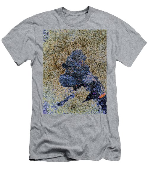 Stained Simpson Character Men's T-Shirt (Athletic Fit)