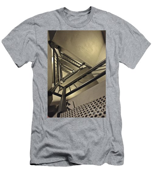 Men's T-Shirt (Slim Fit) featuring the photograph Stairing Up The Spinnaker Tower by Terri Waters