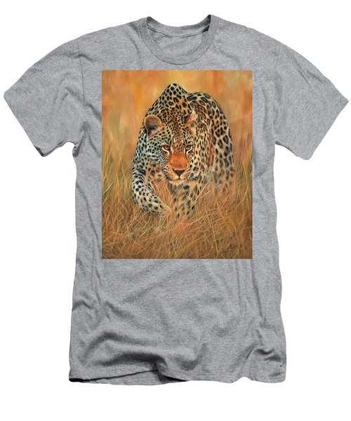 Stalking Leopard Men's T-Shirt (Athletic Fit)