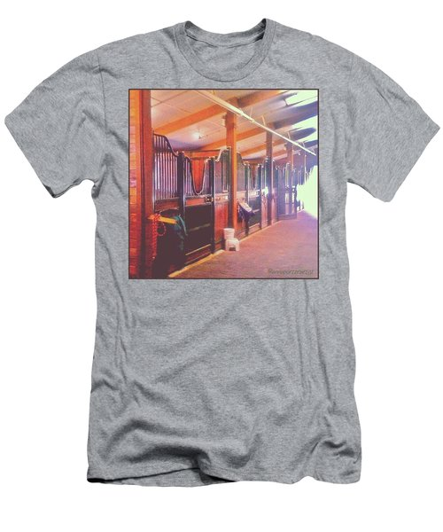 Stall Doors In The Red Barn, Stanford Men's T-Shirt (Athletic Fit)