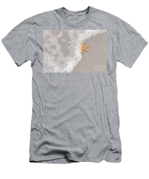 Starfish In The Surf Men's T-Shirt (Athletic Fit)