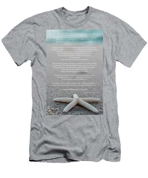 Starfish Make A Difference  Men's T-Shirt (Athletic Fit)