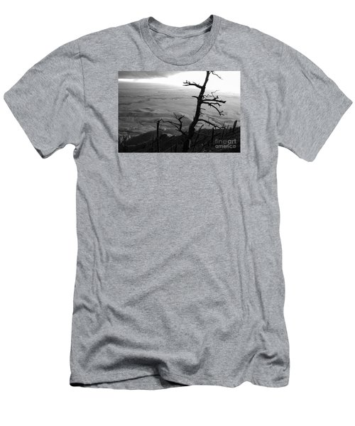 Men's T-Shirt (Slim Fit) featuring the photograph Stark Tree by Mary Carol Story