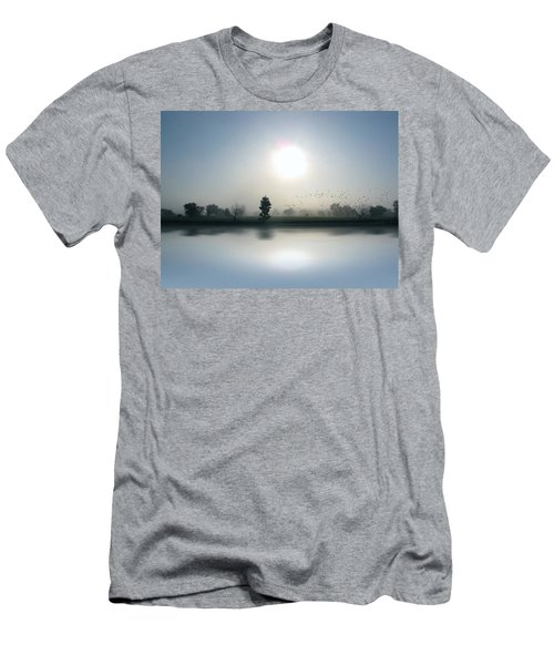 Starlings Misty Morning Men's T-Shirt (Slim Fit) by Cedric Hampton