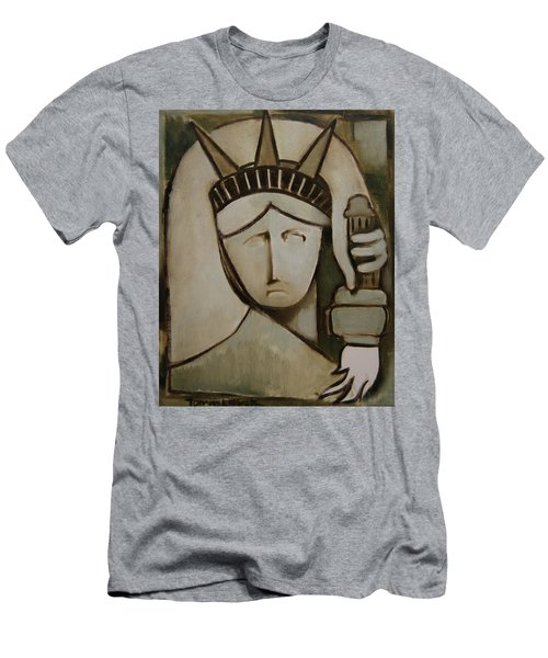Tommervik Abstract Statue Of Liberty Art Print Men's T-Shirt (Athletic Fit)