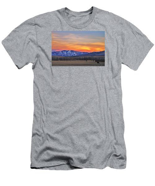 Steamboat Alpenglow Men's T-Shirt (Slim Fit) by Matt Helm