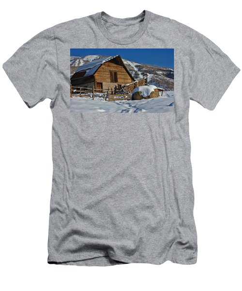 Steamboat Barn Men's T-Shirt (Slim Fit) by Don Schwartz