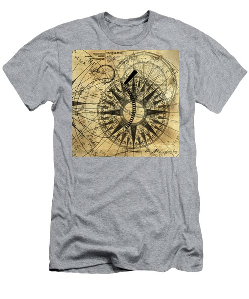 Steampunk Gold Compass Men's T-Shirt (Athletic Fit)