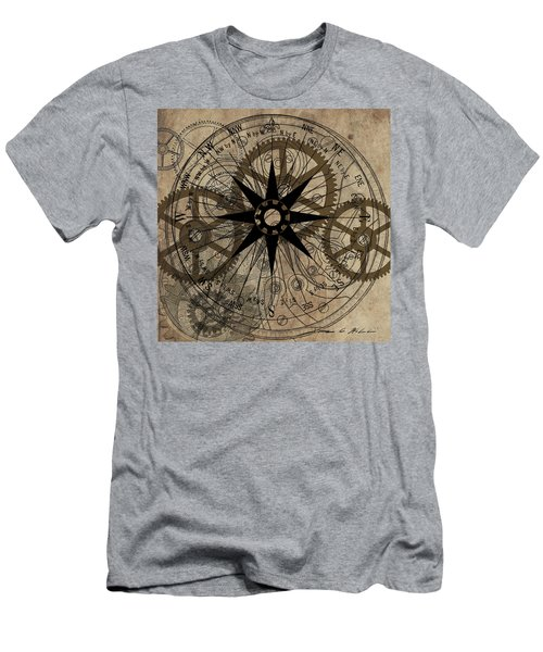Steampunk Gold Gears II  Men's T-Shirt (Slim Fit) by James Christopher Hill