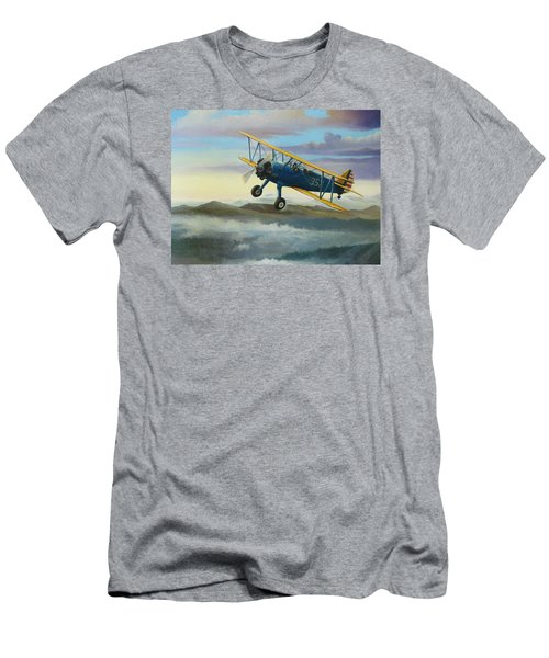Stearman Biplane Men's T-Shirt (Slim Fit) by Stuart Swartz