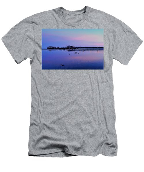 Stearn's Wharf Over Pond Men's T-Shirt (Athletic Fit)