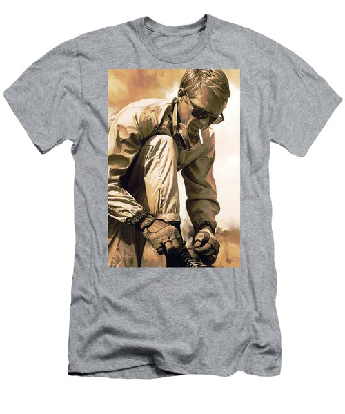 Steve Mcqueen Artwork Men's T-Shirt (Athletic Fit)