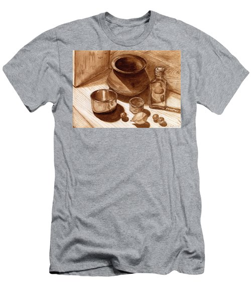 Still Life Walnut Ink Men's T-Shirt (Athletic Fit)