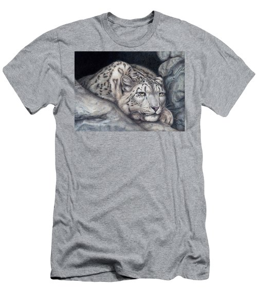 Men's T-Shirt (Slim Fit) featuring the painting Stillnes Like A Stone by Pat Erickson