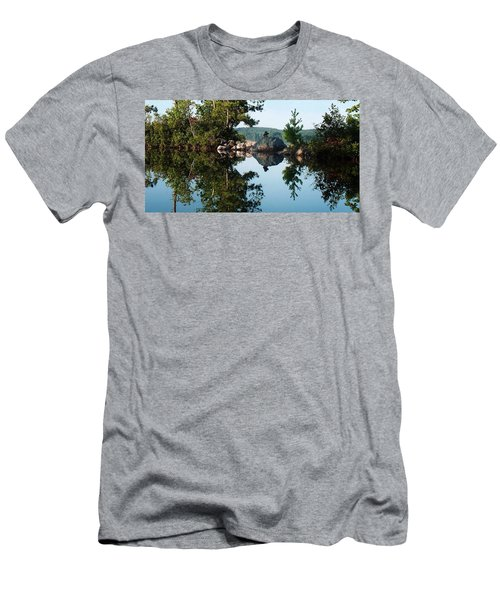 Men's T-Shirt (Slim Fit) featuring the photograph Stone Stacking by Joy Nichols
