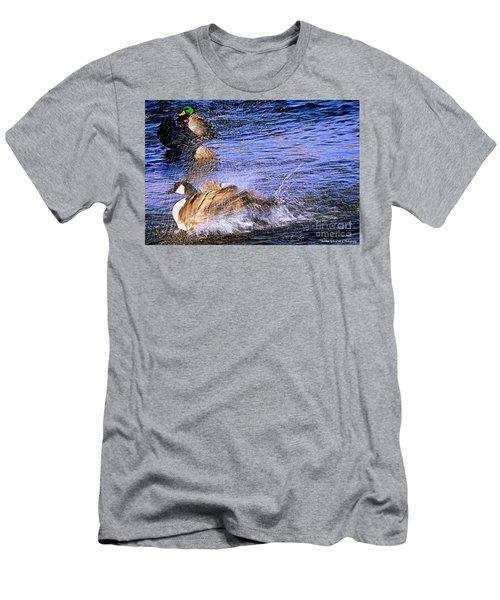 Stop Splashing Men's T-Shirt (Athletic Fit)