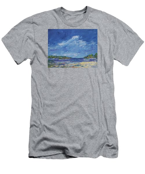 Stormy Day At Picnic Island Men's T-Shirt (Slim Fit) by Gail Kent