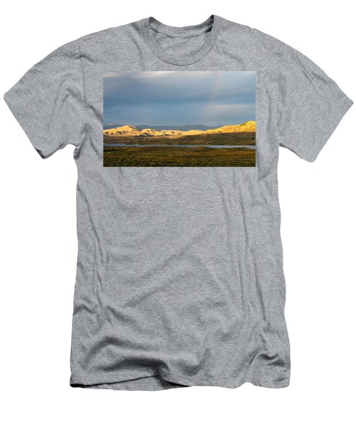 Stormy Sky With Rays Of Sunshine Men's T-Shirt (Slim Fit) by Nadja Rider