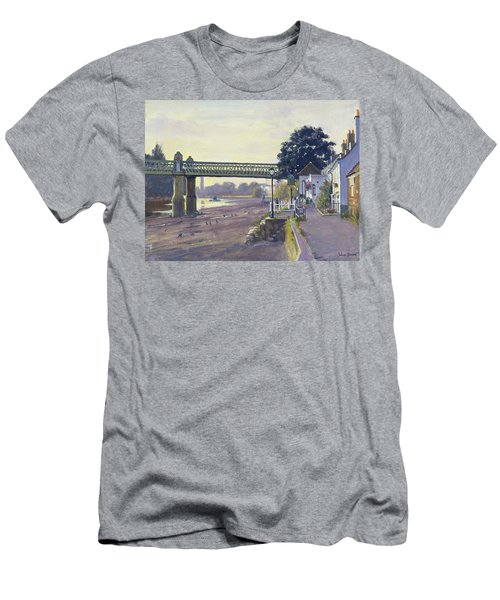 Strand On The Green Oil On Canvas Men's T-Shirt (Athletic Fit)