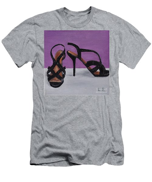 Strappy Black Heels For Maddy Men's T-Shirt (Athletic Fit)