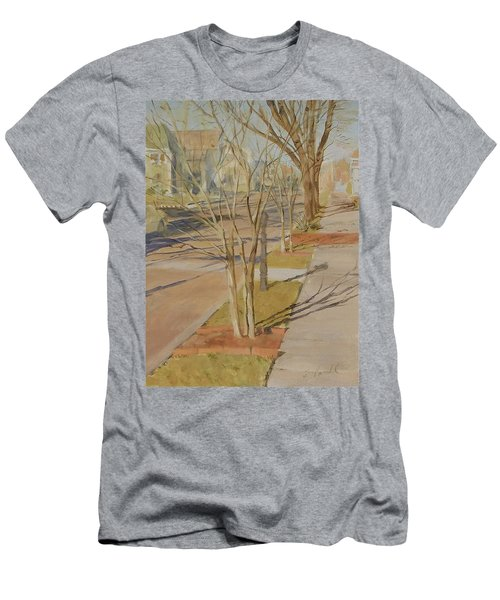 Street Trees With Winter Shadows Men's T-Shirt (Athletic Fit)