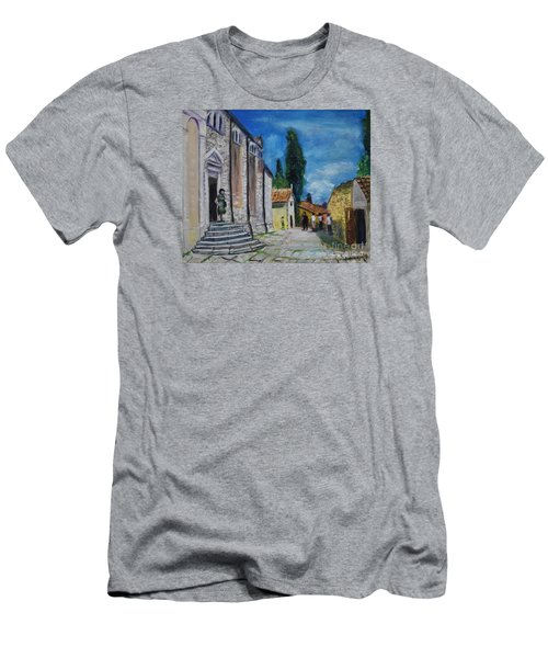 Street View In Rovinj Men's T-Shirt (Athletic Fit)