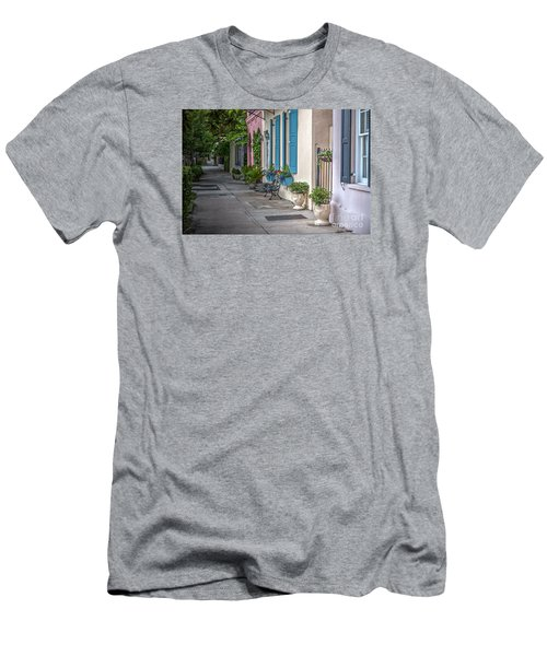 Strolling Down Rainbow Row Men's T-Shirt (Athletic Fit)