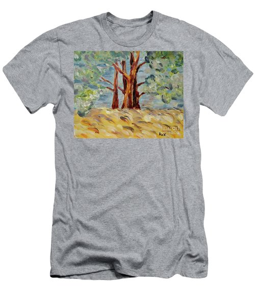 Men's T-Shirt (Athletic Fit) featuring the painting Summer Afternoon by Maria Langgle